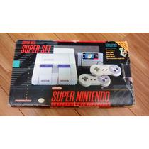 Super Nintendo Super Set Playtronic Na Caixa Com Mario World