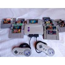 Super Nintendo Baby Top Com 4 Fitas