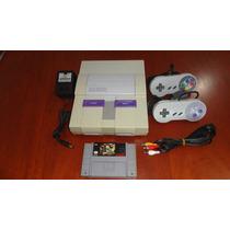 Super Nintendo + 2 Controles + Fonte + Cabo Av + Jogo
