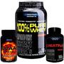 Combo Massa Muscular Probiótica 100% Whey + Bcaa + Creatina