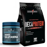 Combo Maromba - Deca Protein Chocolate+ Power Glutamina