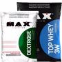 Combo Top Whey 3w - 1,8kg + Dextrose - 1kg - Max Titanium