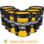 12 Potes De Pasta De Amendoim C/ Mel Orgânico 500g-mandubim