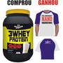 3 Whey Protein 900g Morango - Bio Nutrition ( + Camiseta )