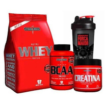 Kit Nutri Whey + Bcaa + Creatina Integralmédica
