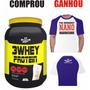 3 Whey Protein 2280g Baunilha - Bio Nutrition ( + Camiseta )