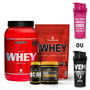Combo Nutri Whey Pote + Power Whey + Bcaa + Creatina + Co Ba