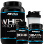 Kit Whey Chocolate + Bcaa + Creatina + Coq Atlhetica