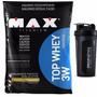 Melhor Proteina: Top Whey 3w 1,8kg Refil Max Baunilha +coq
