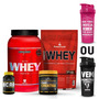 Super Kit Básico Academia Whey Protein+ Bcaa+ Creatina+ Coq