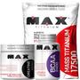 Super Combo Mass 3kg + Bcaa 200 Caps + Creatina Max Titanium