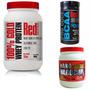 Combo Suplementos Red Series -whey 100%+ Bcaa +nano Hardcore
