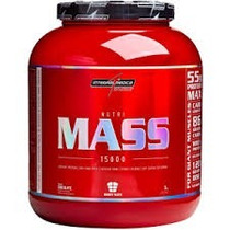 Nutri Mass 15000 3kg Morango Integralmedica ( + Protetor )