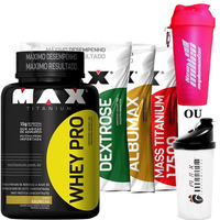 Kit Anabolismo Muscular Academia - Max Titanium