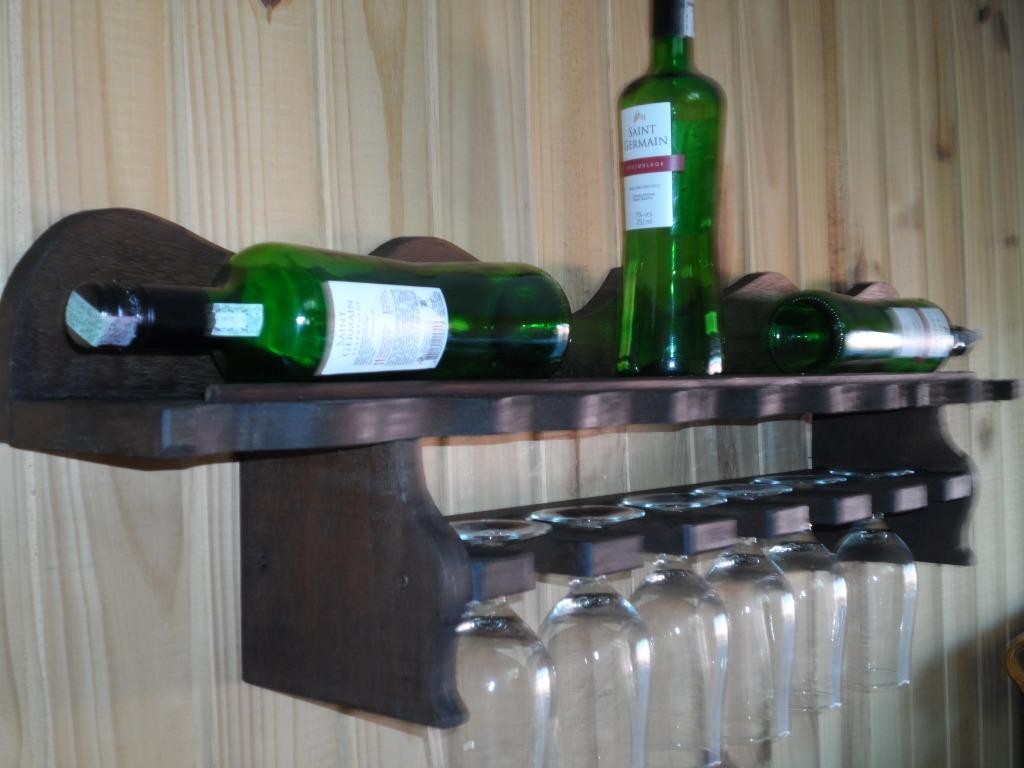 #1D6422 Suporte De Vinho E Taças Madeira Maciça Qualidade Original R$ 189  1024x768 px como fazer suporte de madeira para vinho @ bernauer.info Móveis Antigos Novos E Usados Online