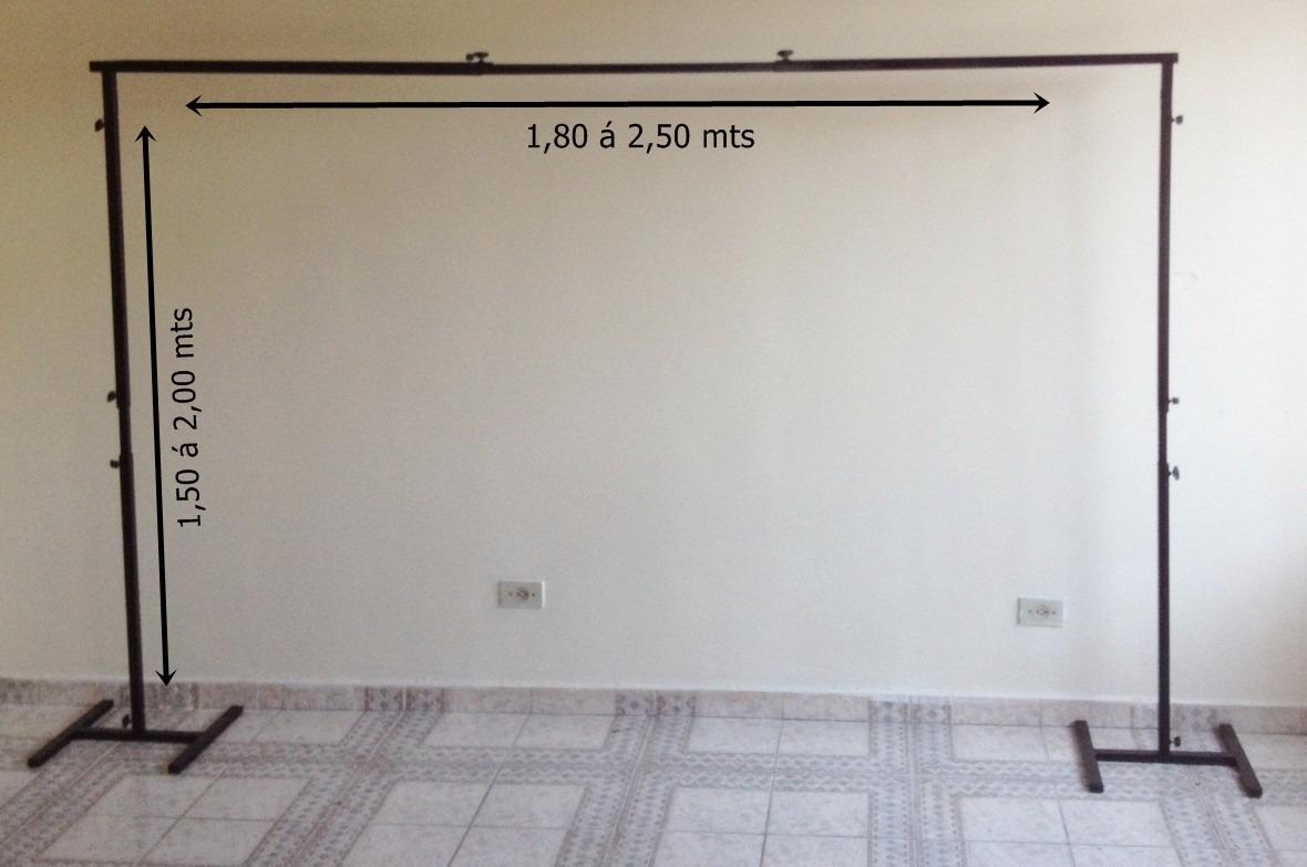 Suporte Painel De Festa Banner Cortina Duplo R$ 198 99 no  #6D604F 1180 783