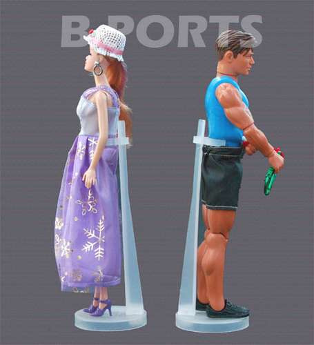 Suporte Para Barbie, Susi E Ken - Promoção 5 Pçs Por R$19,90