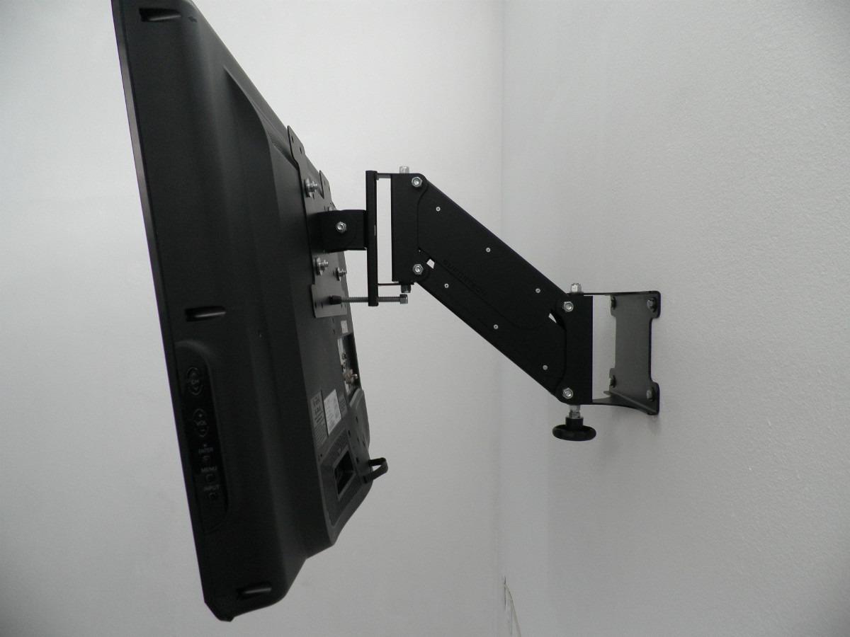 suporte tv articulado lcd led plasma 26 a 52 regula