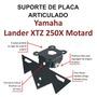 Suporte Placa Com Regulagem Articulado Yamaha Lander Xtz 250