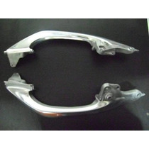 Alca Traseira Nxr Bros 150 Aluminio Cinza Par