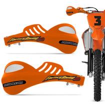 Protetor Mao Pro Tork 788 Universal Motocross Laranja Enduro
