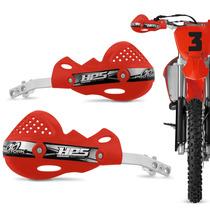Protetor Mao Pro Tork Hps Aluminio Trilha Motocross Vermelho
