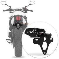 Suporte Placa Xj6 Moto Led Articulado Yamaha Preto Rabeta