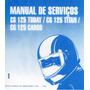 Manual De Serviço Moto Honda Cg 125 Today, Titan E Cargo