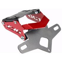 Suporte De Placa Eliminador Ironwing Yamaha Xj6 N/f Vermelho