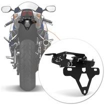 Suporte Placa Gsx R 750 Srad Moto Led Articulado Preto Luz