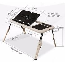 Mesa Notebook Table Dobrável Portátil Suporte Cooler Usb Pc
