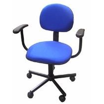 Cadeira Secretaria Office C/ Braço - Azul