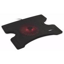 Base Suporte Notebook Cooler Led Vermelho Com Apoio E Hub