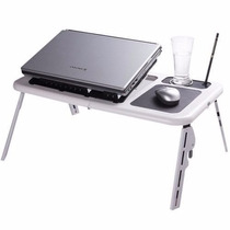 Mesa Portátil Notebook Cooler Hub E-table Branca