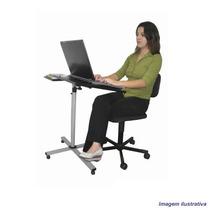 Mesa Para Notebook Altura Ajustável Tampo Preto Reclinável