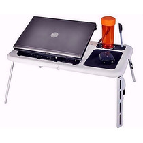 Mesa P/ Notebook E-table Portátil Dobrável Regulável Cooler-