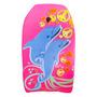 Prancha Bodyboard Infantil Média 83cm C/ Leash Golfinho Rosa