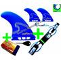 Quilhas Padrão Future M5 + Leash 6 Pés + Parafina De Brinde