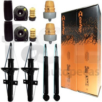 4 Amortecedores Cofap + Kits Suspensão Fiat Strada 2001/2008