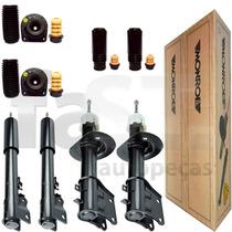 4 Amortecedores Monroe + Kits Fiat Palio 1.0 1.3 2001/2009