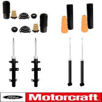 4 Amortecedores Ford + Kit Batentes Originais Fiesta 02/14