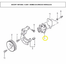 Bomba Da Direcao Hidraulica Escort 1.6 Zetec Rocam