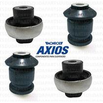 Kit 04 Buchas Balanças Bandejas Fiat Bravo - Original Axios