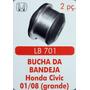 Bucha Bandeja Honda Civic 01 Até 08 (grande) 2 Peças