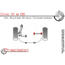 Civic 01 A 06 - Kit Buchas Braço Compensador (gravatinha) Pu
