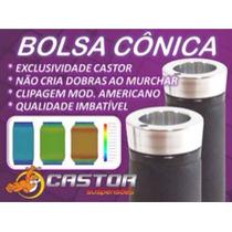 Bolsa Cônica 4.0 Base Em Alumínio Para Suspensão Ar Furo 8mm