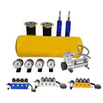 Suspensão Ar Rápida 12mm 8v +compressor Válvula 8em1