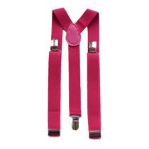 Suspensório Feminino Rosa Pink Ajustavel Top