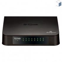 Switch D-link 16 Portas Fast-ethernet Des-1016a Preto + Nf-e