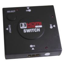 Switch Hd Hub Hdmi 1.4 Splitter Divisor 3 Portas Tv Xbox Ps3